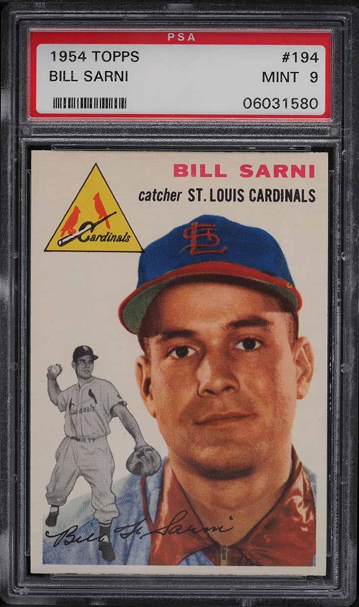 1954 Topps Bill Sarni #194 PSA 9 MINT - Image 1