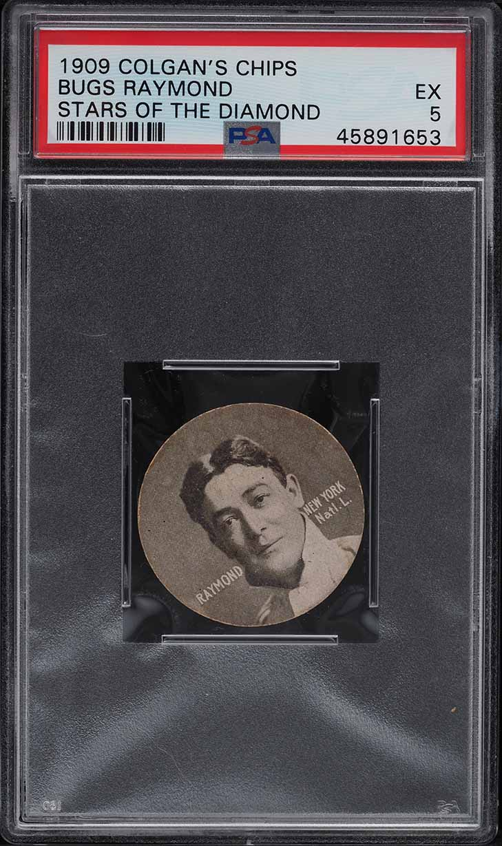 1909 Colgan's Chips Stars Of The Diamond Bugs Raymond PSA 5 EX - Image 1