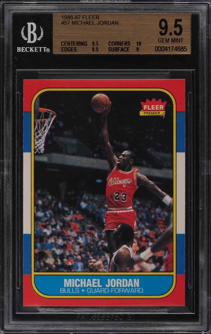 1986 Fleer Basketball SETBREAK Michael Jordan ROOKIE RC #57 BGS 9.5 GEM (PWCC) - Image 1