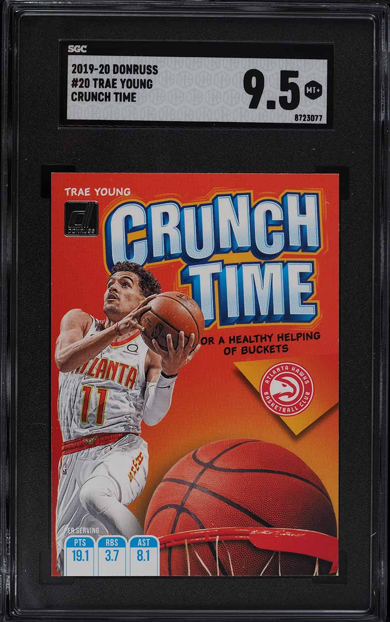 2019 Donruss Crunch Time Trae Young #20 SGC 9.5 MINT+ - Image 1
