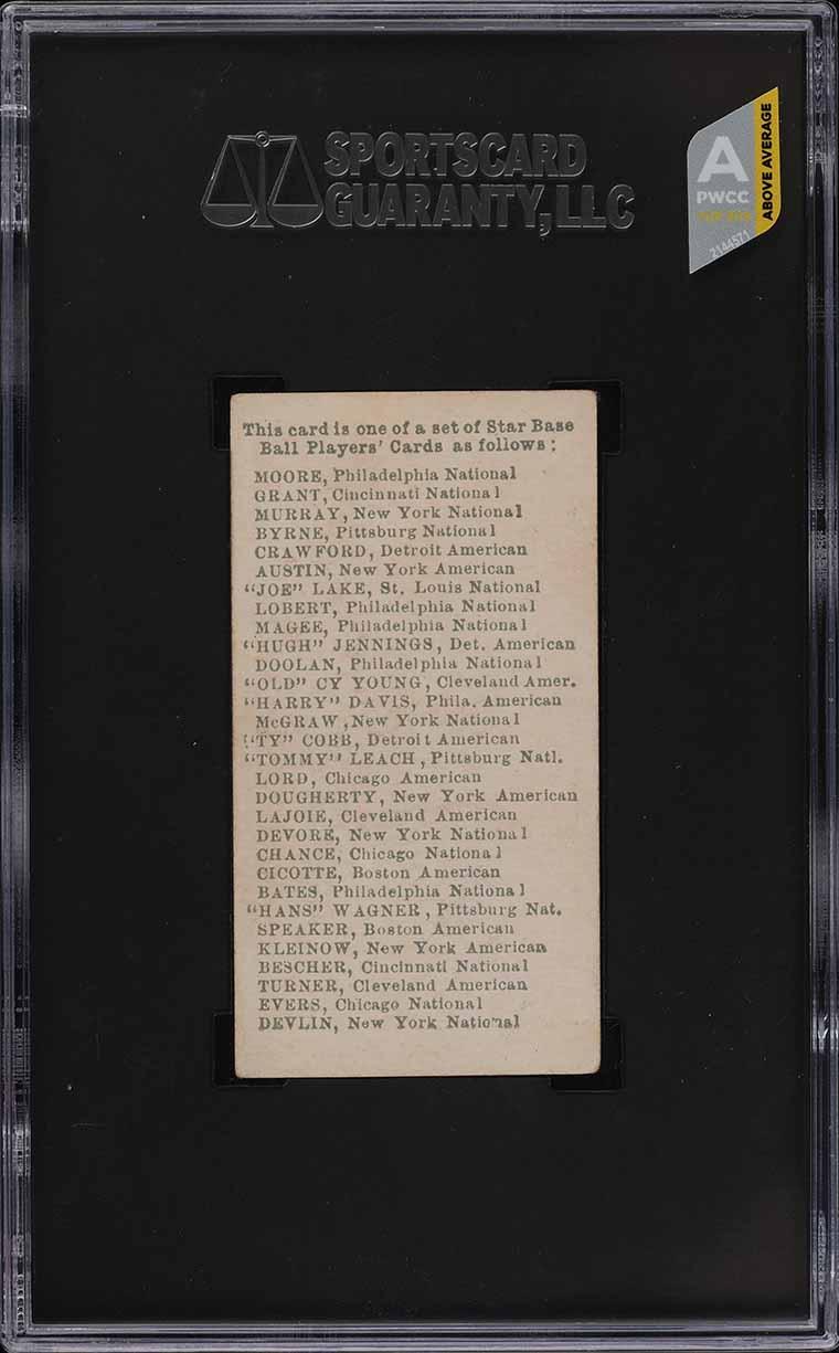 1911 E94 George Close Candy Purple Ty Cobb SGC 3 VG (PWCC-A) - Image 2