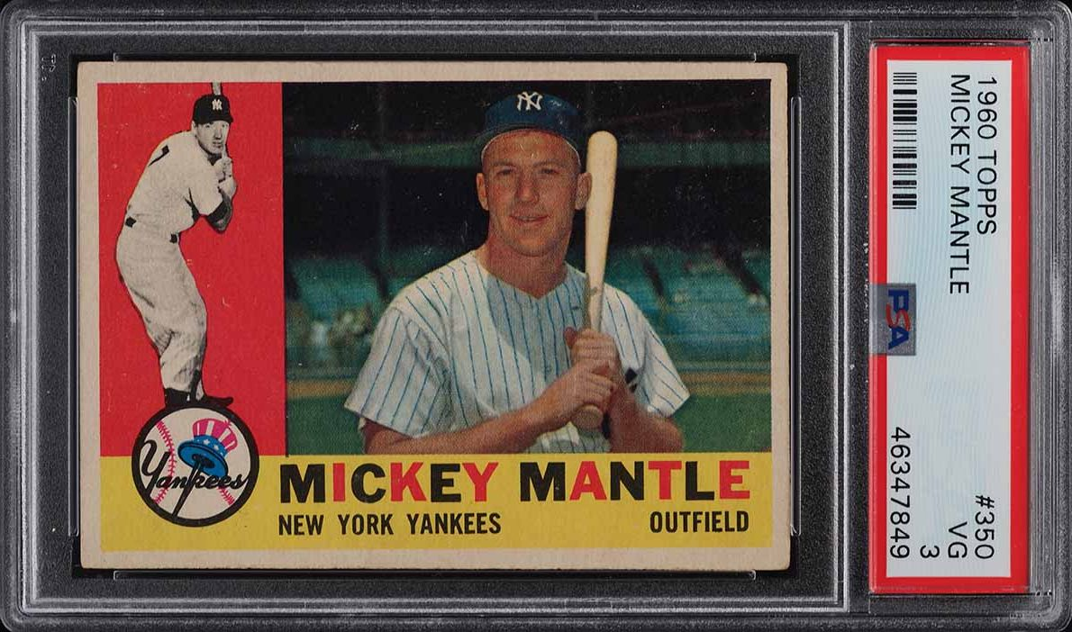 1960 Topps Mickey Mantle #350 PSA 3 VG - Image 1