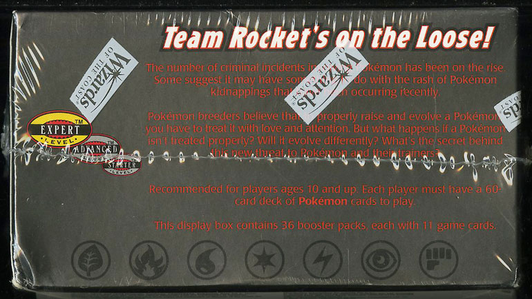 2000 Pokemon Team Rocket 1st Edition Factory Sealed Booster Box - Image 6