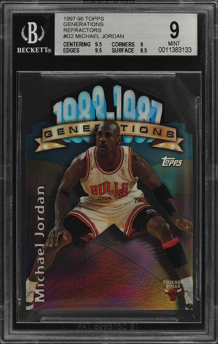 1997 Topps Generations Refractor Die-Cut Michael Jordan #G2 BGS 9 MINT (PWCC) - Image 1