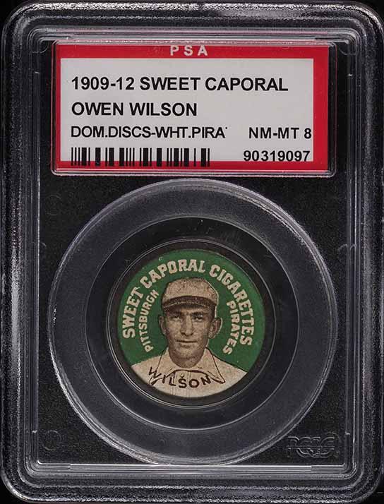 1909 Sweet Caporal Domino Discs Owen Wilson PSA 8 NM-MT - Image 1