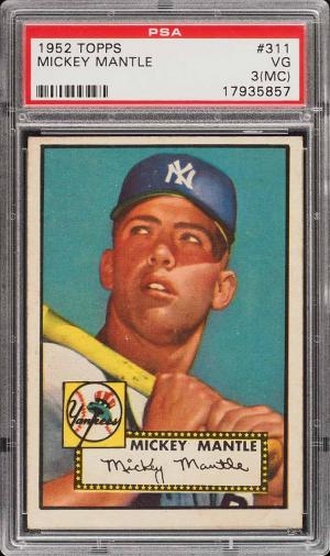 Image of: 1952 Topps Mickey Mantle #311 PSA 3(mc) VG (PWCC)
