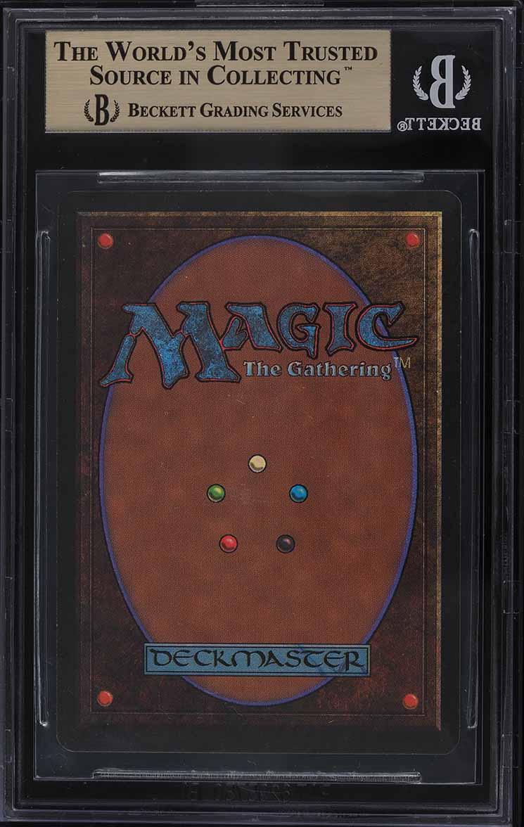 1993 Magic The Gathering MTG Beta Mox Jet R A BGS 9.5 GEM MINT - Image 2