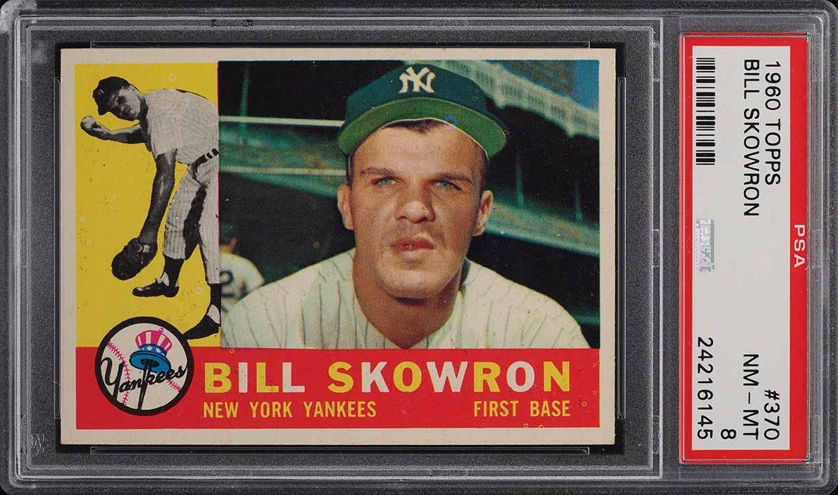 1960 Topps Bill Skowron #370 PSA 8 NM-MT - Image 1