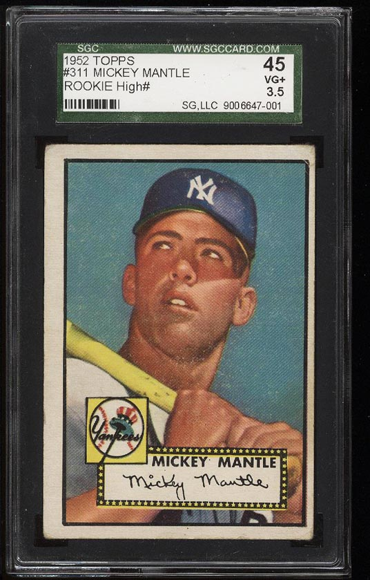 1952 Topps Mickey Mantle #311 SGC 3.5/45 VG+ (PWCC) - Image 1