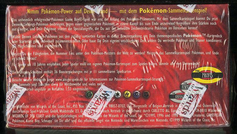 1999 Pokemon Base 1st Edition German Booster Box, Blue Wing Charizard Glurak? - Image 5