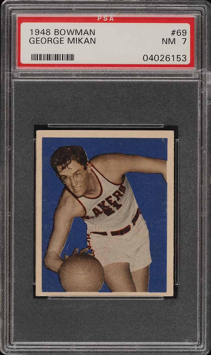 1948 Bowman Basketball George Mikan ROOKIE RC #69 PSA 7 NRMT (PWCC) - Image 1