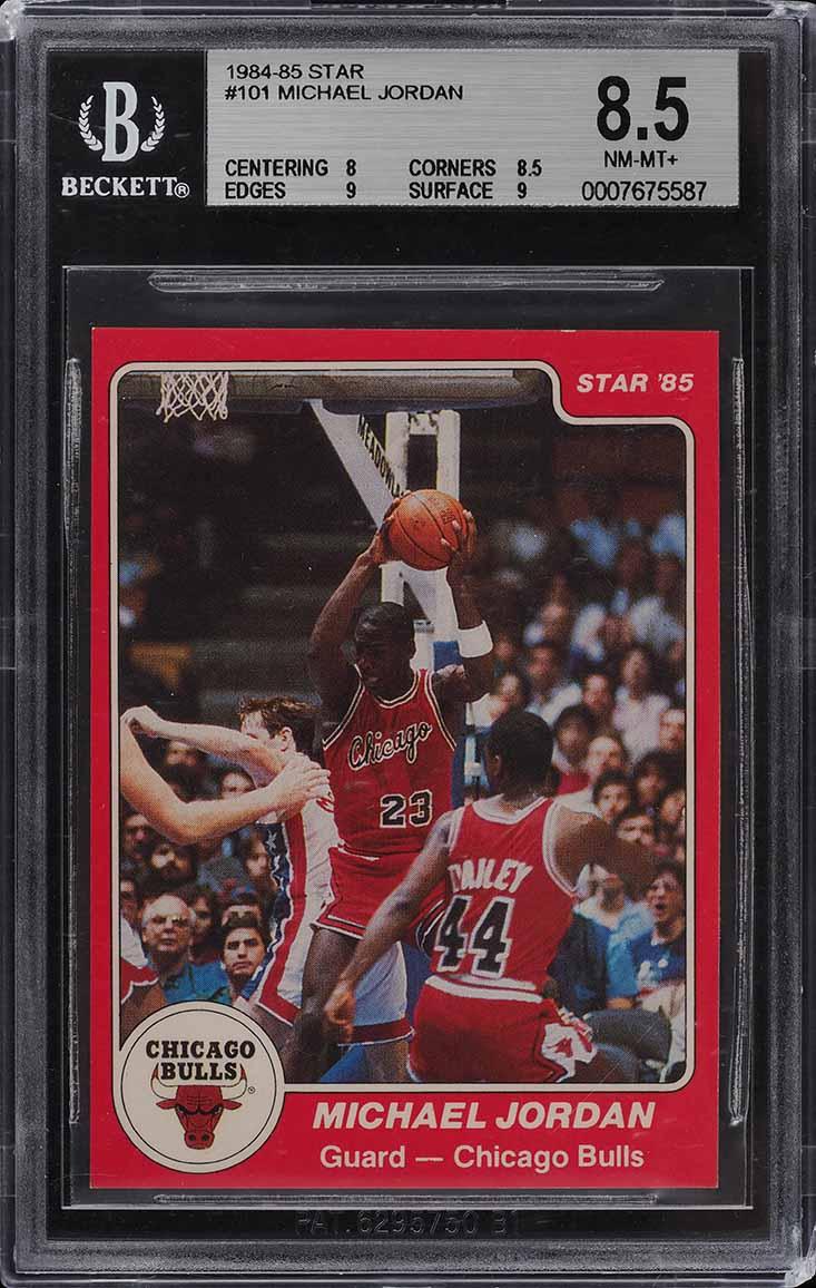 1984-85 Star Basketball Michael Jordan ROOKIE RC #101 BGS 8.5 NM-MT+ (PWCC) - Image 1