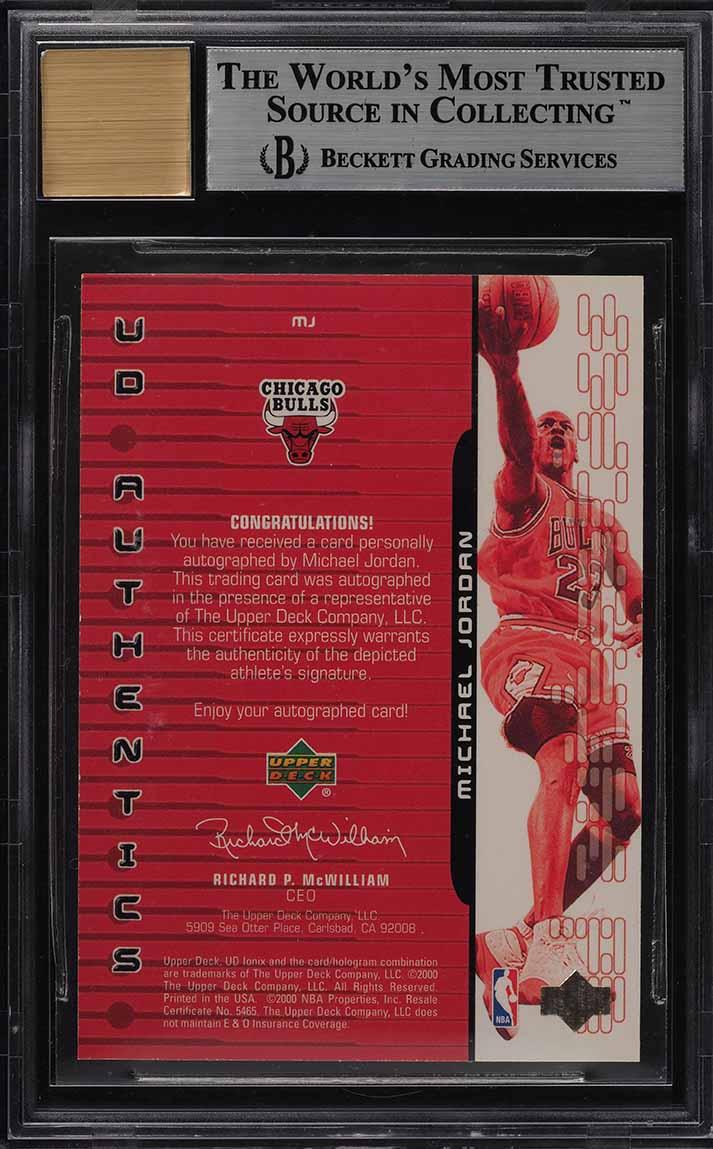1999 Upper Deck Ionix Authentics Michael Jordan AUTO /23 #MJ BGS 9 MINT (PWCC) - Image 2