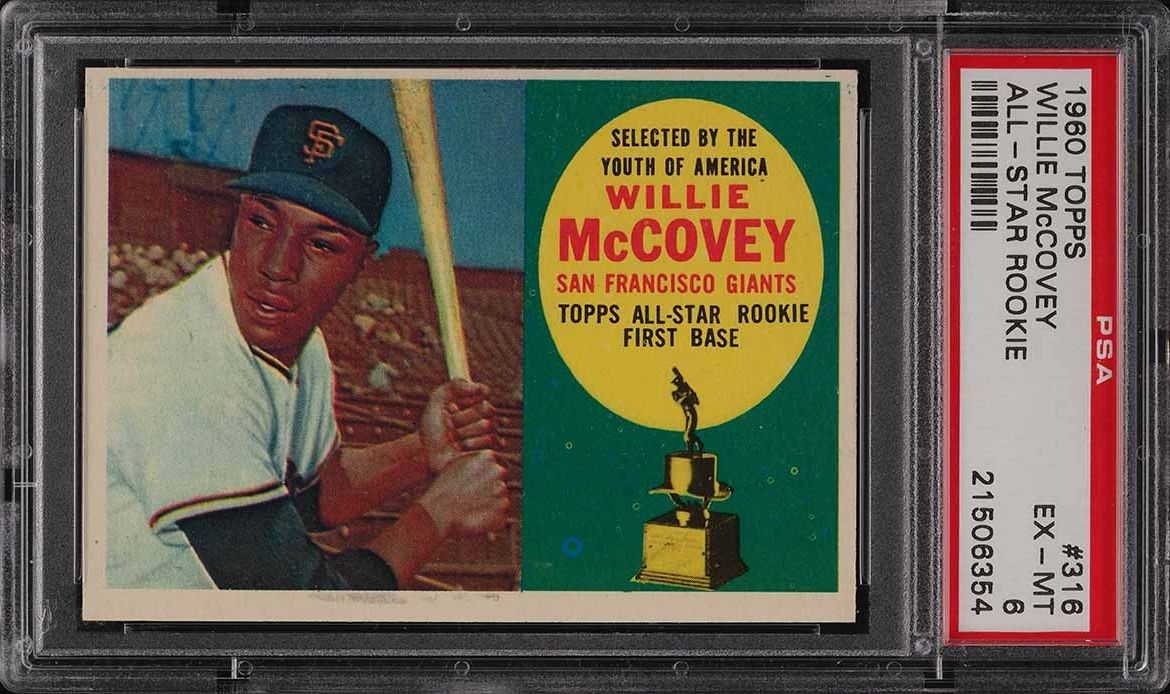 1960 Topps Willie McCovey ROOKIE RC #316 PSA 6 EXMT - Image 1