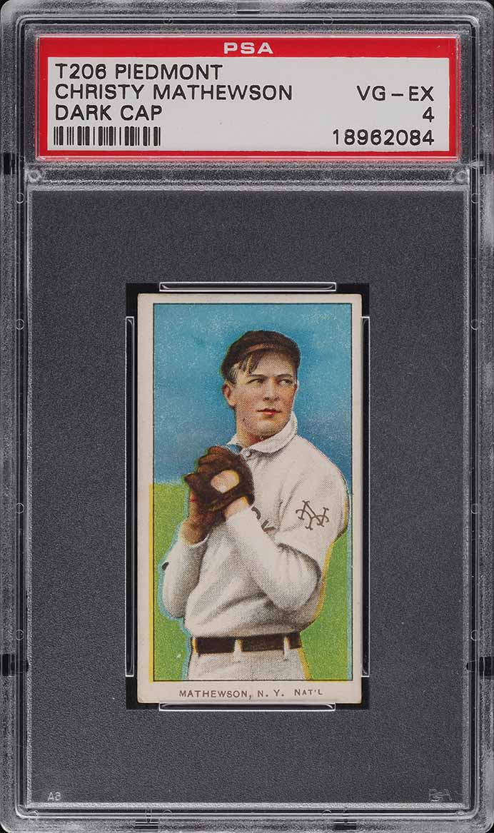 1909-11 T206 Christy Mathewson DARK CAP PSA 4 VGEX - Image 1