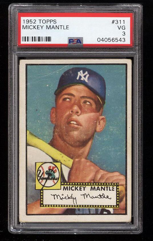 1952 Topps Mickey Mantle #311 PSA 3 VG (PWCC) - Image 1