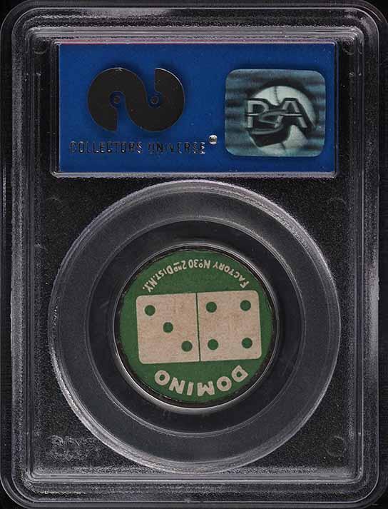 1909 Sweet Caporal Domino Discs Owen Wilson PSA 8 NM-MT - Image 2