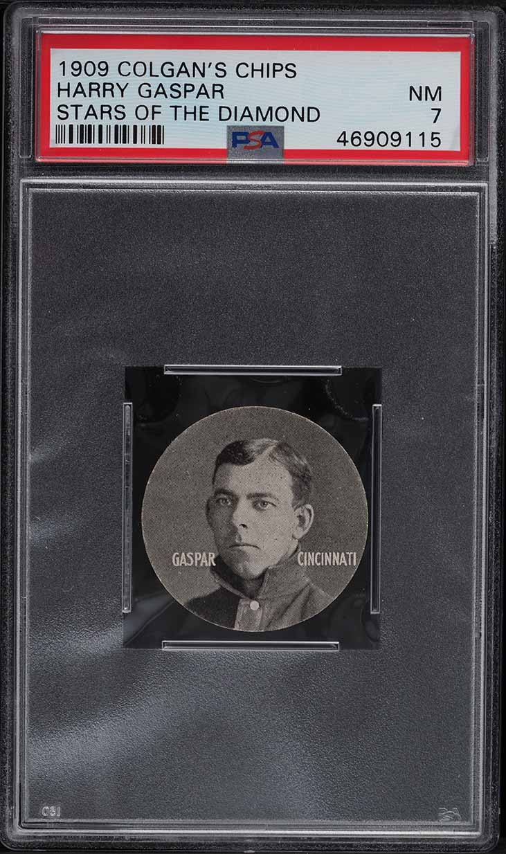 1909 Colgan's Chips Stars Of The Diamond Harry Gaspar PSA 7 NRMT - Image 1