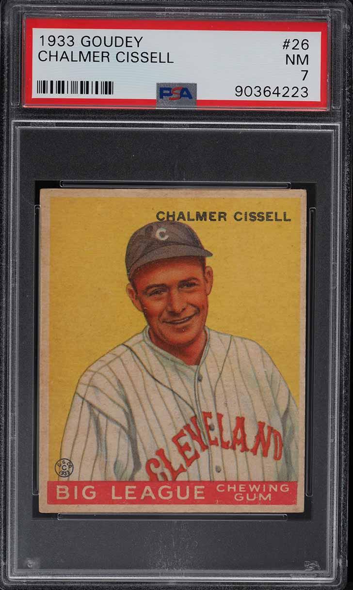 1933 Goudey Chalmer Cissell #26 PSA 7 NRMT - Image 1