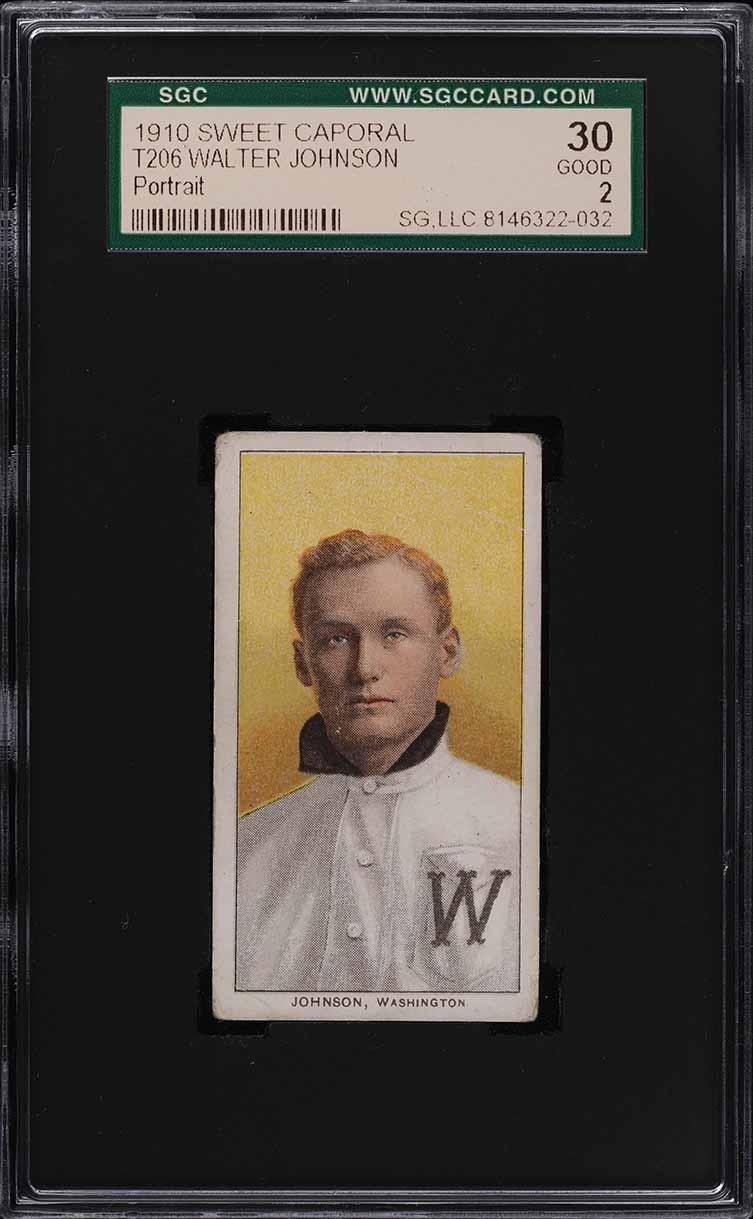 1909-11 T206 Walter Johnson PORTRAIT SGC 2 GD (PWCC) - Image 1