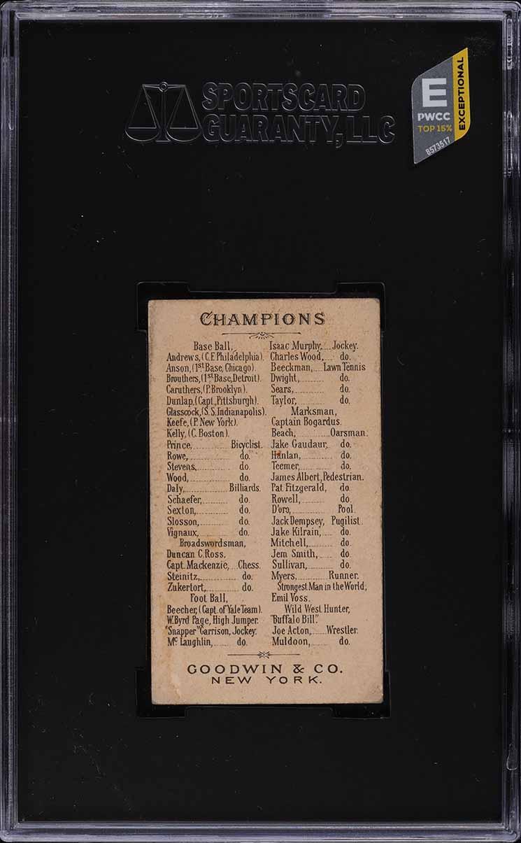 1888 N162 Goodwin Champions Jack Glasscock SGC 2.5 GD+ (PWCC-E) - Image 2