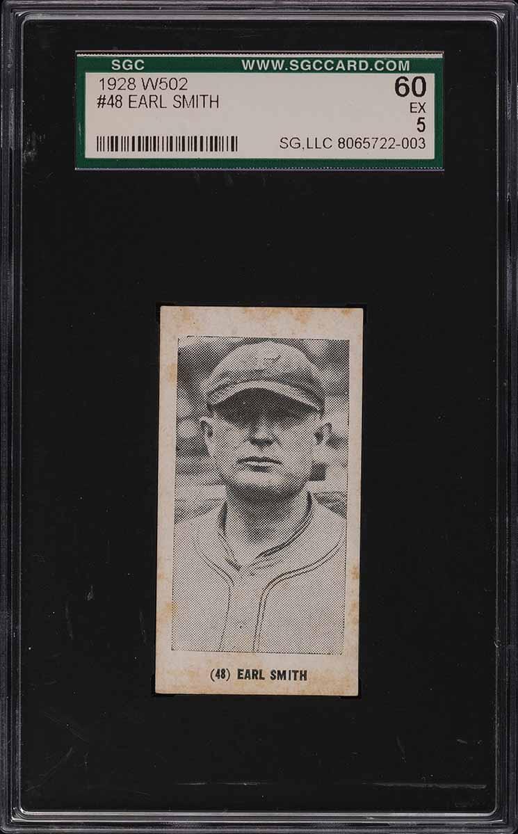 1928 W502 Strip Card Earl Smith #48 SGC 5 EX - Image 1