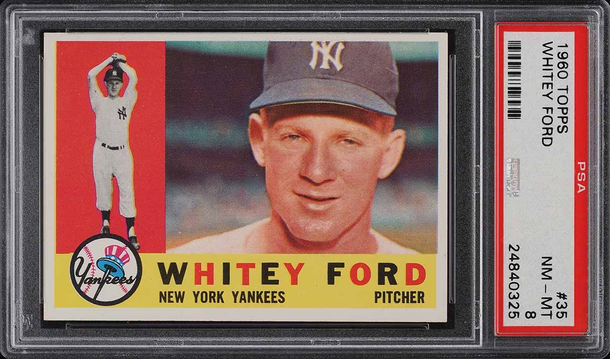 1960 Topps Whitey Ford #35 PSA 8 NM-MT - Image 1