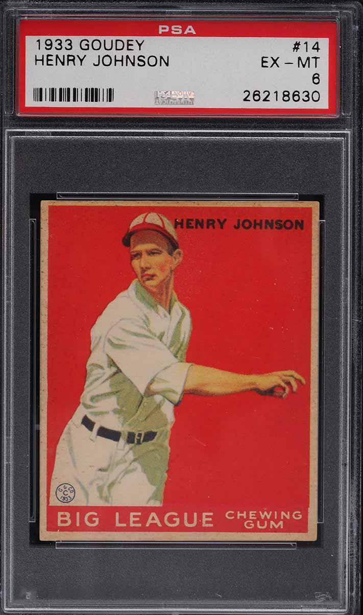 1933 Goudey Henry Johnson #14 PSA 6 EXMT - Image 1