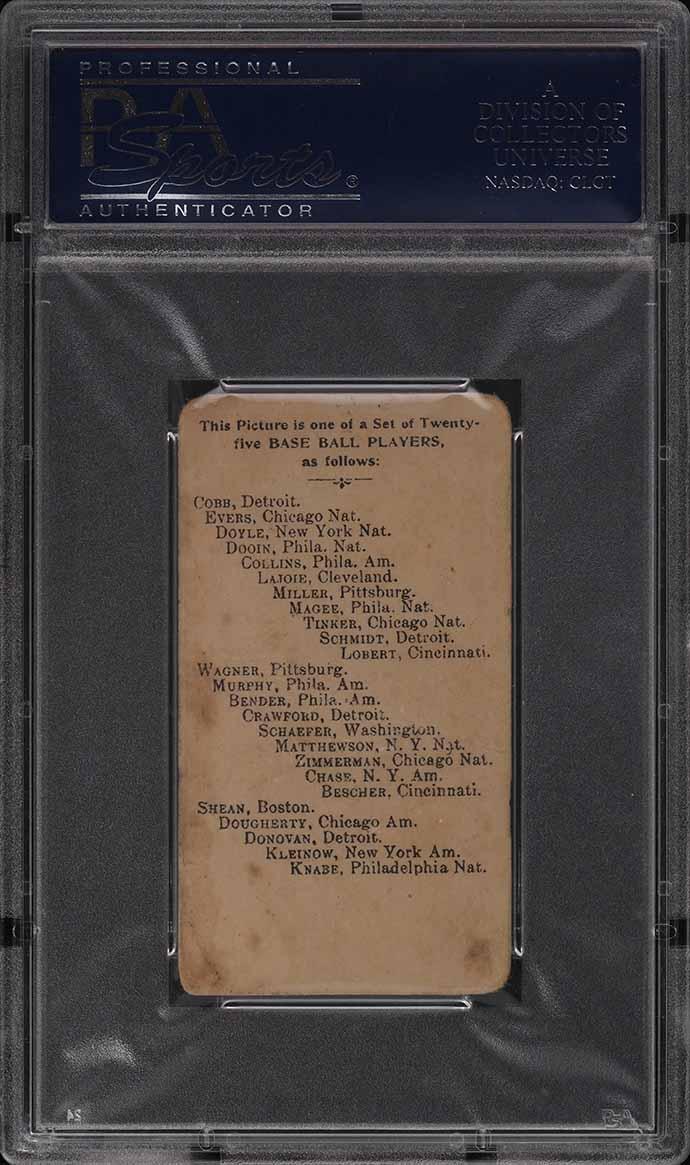 1909 E102 Set Of 25 Honus Wagner BATTING PSA 1 PR - Image 2