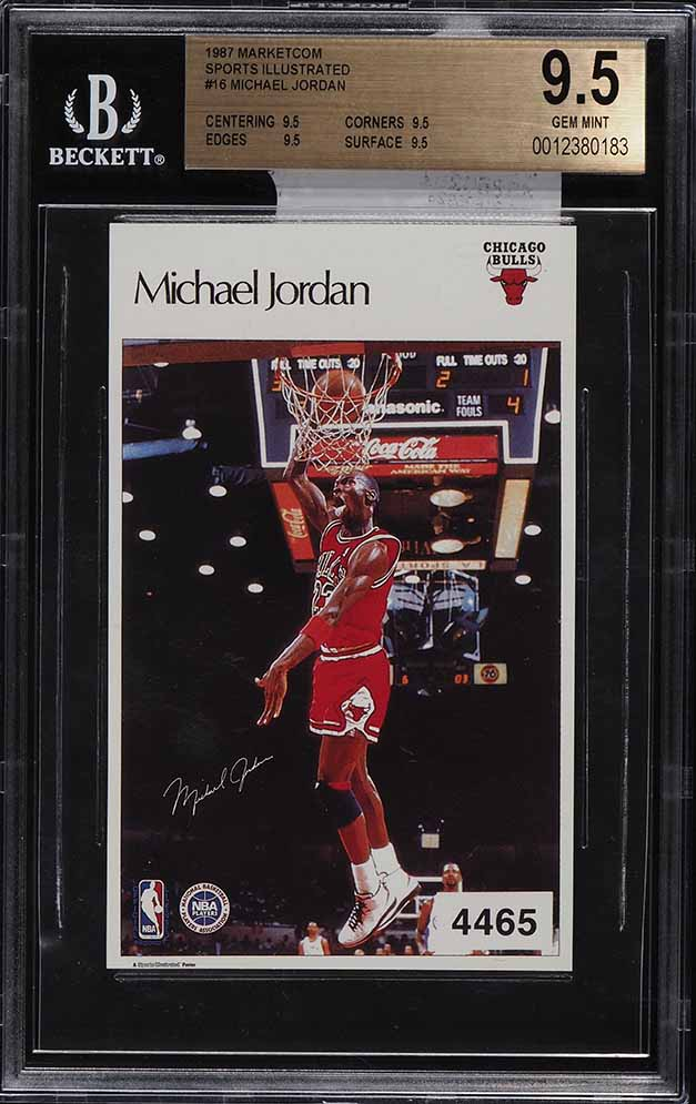 1986 Marketcom Sports Illustrated Test Rookie Michael Jordan RC #16 BGS 9.5 - Image 1