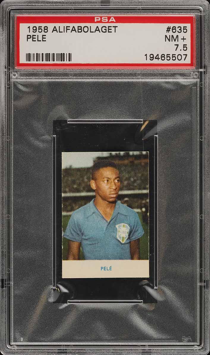 1958 Alifabolaget Soccer Pele ROOKIE RC #635 PSA 7.5 NRMT+ (PWCC) - Image 1