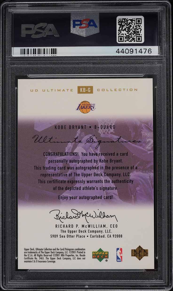 2000 Ultimate Collection Signatures Gold Kobe Bryant AUTO /25 #KB-G PSA 10 GEM - Image 2