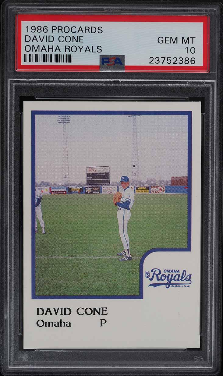 1986 Procards Omaha Royals David Cone PSA 10 GEM MINT - Image 1