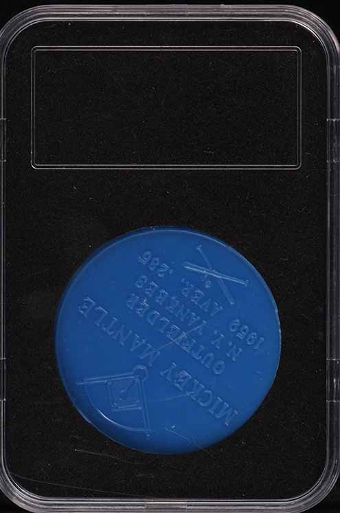1960 Armour Coins Blue Mickey Mantle  - Image 2