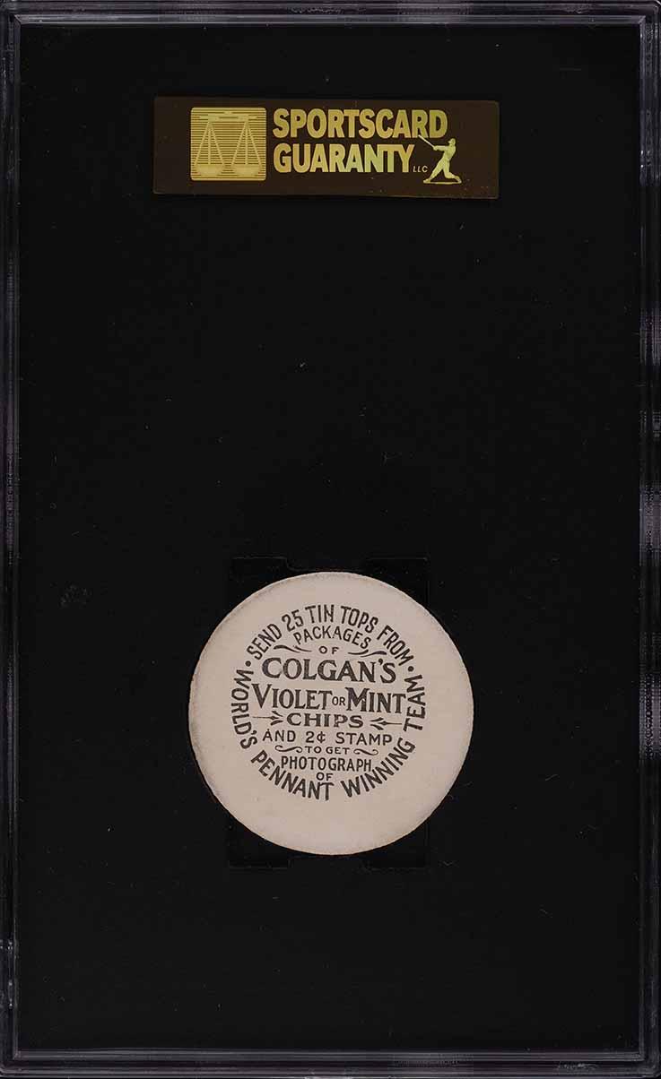 1909 Colgan's Chips Tin Tops Joe Tinker SGC 7 NRMT - Image 2