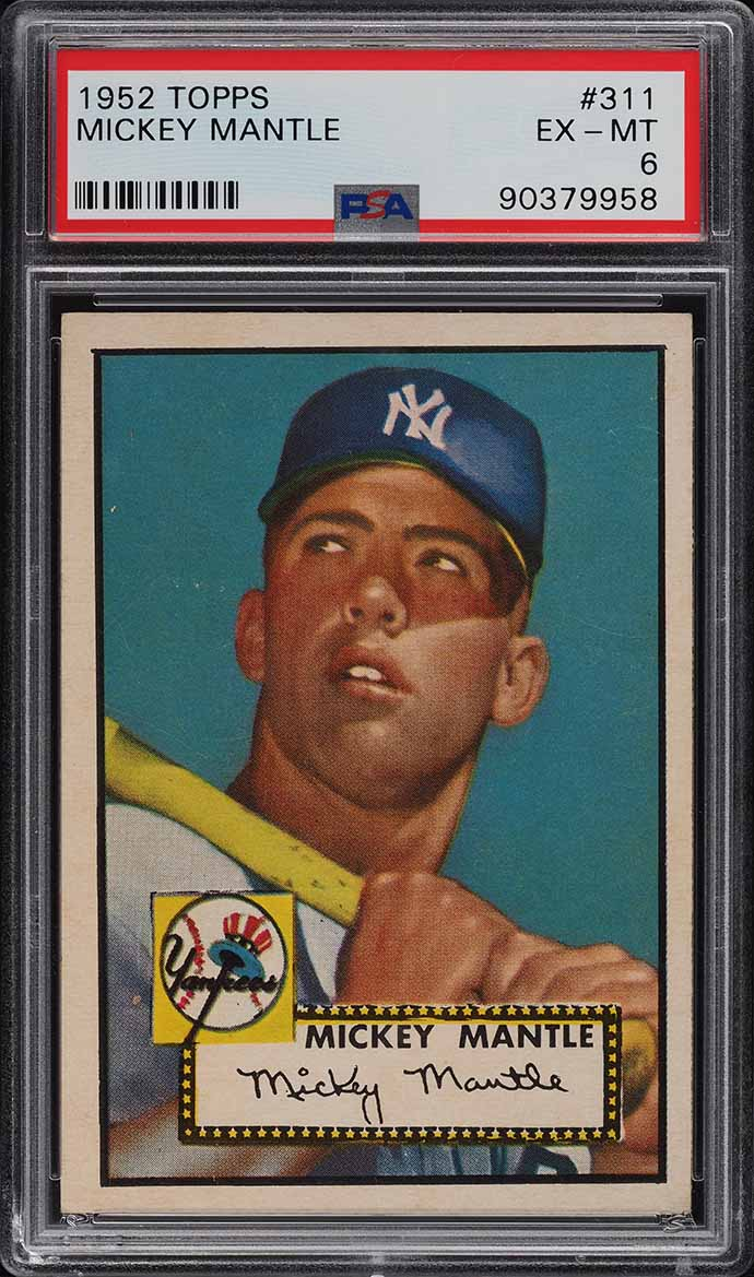 1952 Topps Mickey Mantle #311 PSA 6 EXMT - Image 1