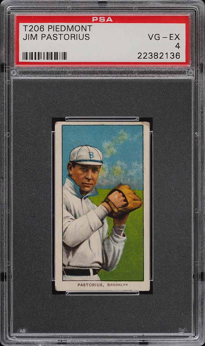 1909-11 T206 SETBREAK Jim Pastorius PSA 4 VGEX (PWCC) - Image 1