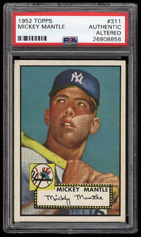 1952 Topps Mickey Mantle #311 PSA Altered (PWCC) - Image 1