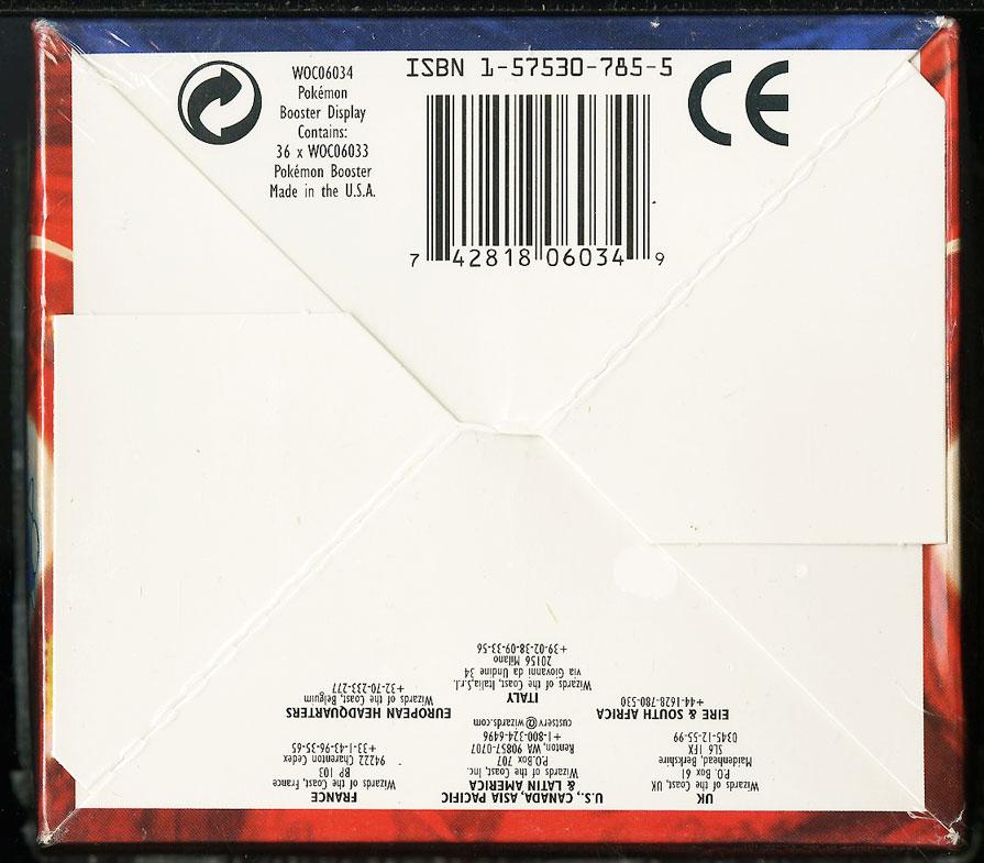 1999 Pokemon Base Set Factory Sealed Booster WOTC Box, Blue Wing Charizard - Image 2