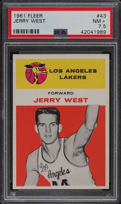 1961 Fleer Basketball Jerry West ROOKIE RC #43 PSA 7.5 NRMT+ (PWCC) - Image 1