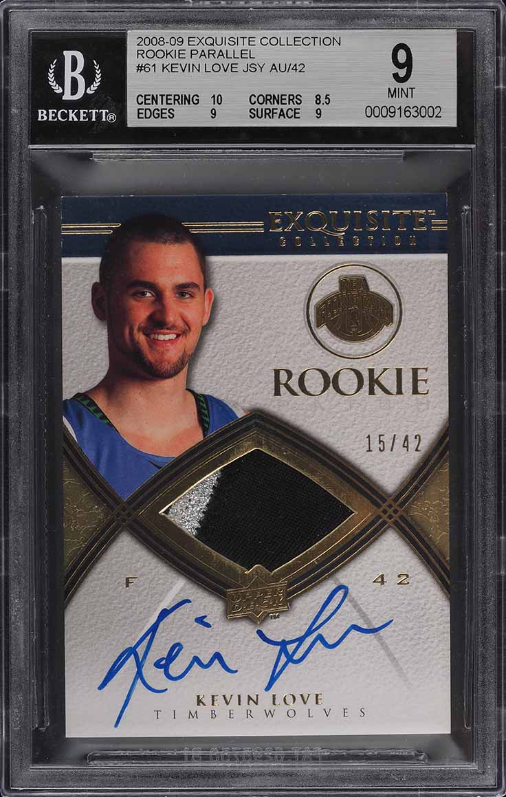 2008 Exquisite Collection Kevin Love ROOKIE RC PATCH AUTO ...