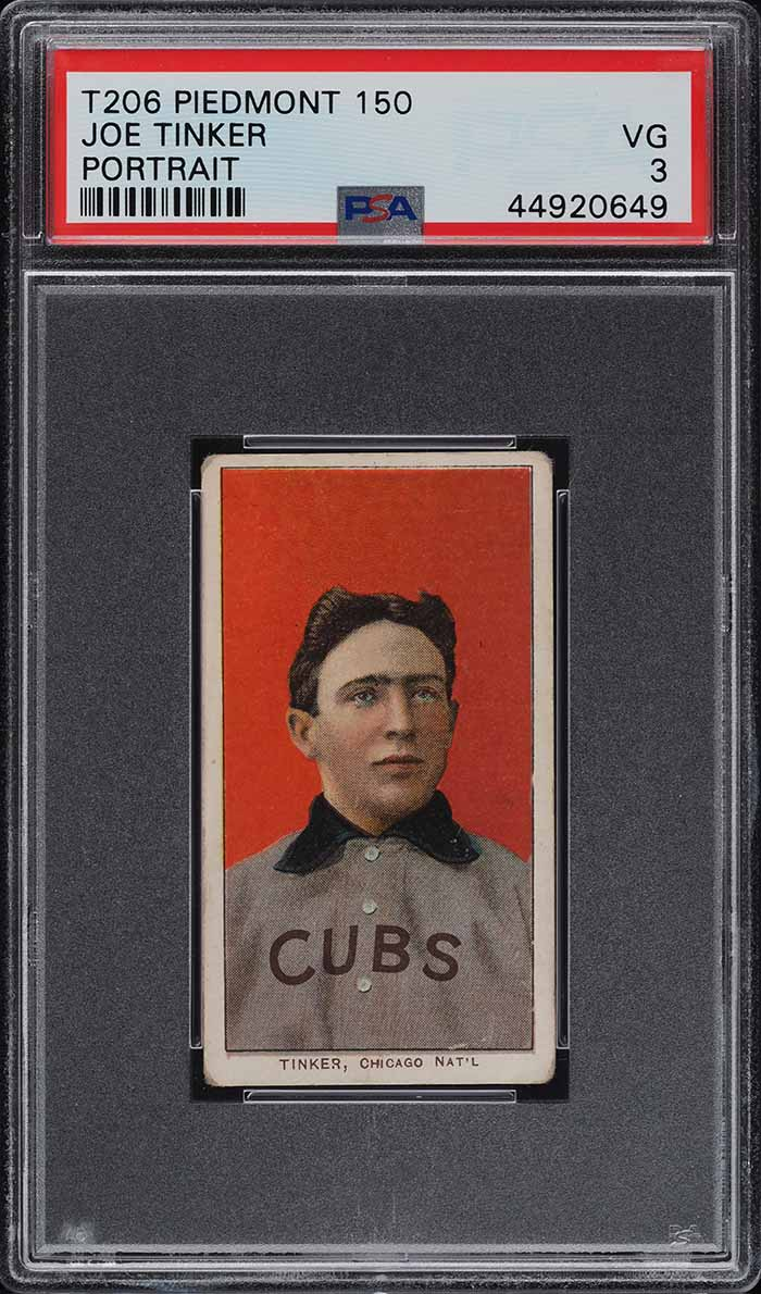 1909-11 T206 Joe Tinker PORTRAIT PSA 3 VG (PWCC) - Image 1