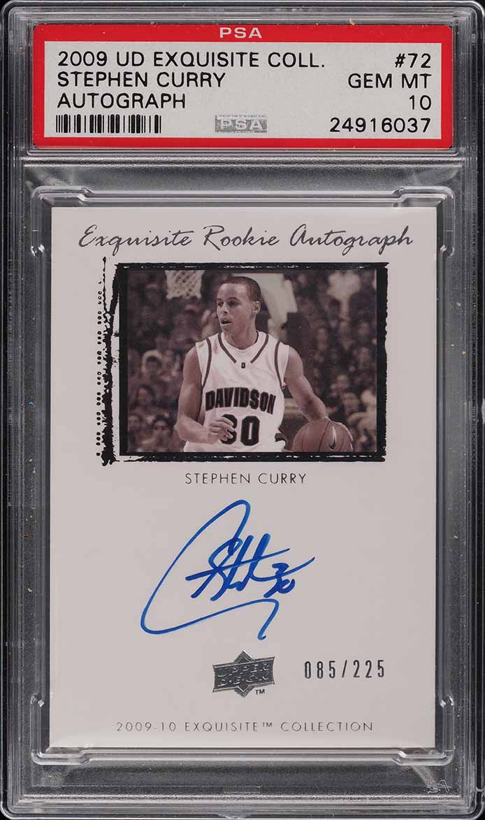 2009 Exquisite Collection Stephen Curry ROOKIE RC AUTO /225 #72 PSA 10 (PWCC) - Image 1