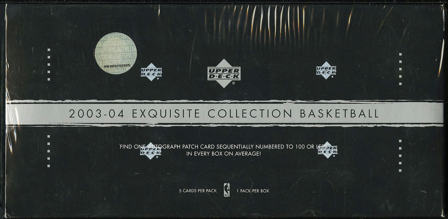2003-04 UD Exquisite Collection BBall Factory Sealed Hobby Box LeBron RC? (PWCC) - Image 1