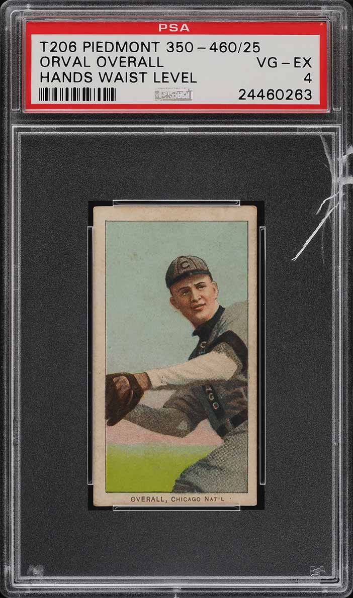 1909-11 T206 SETBREAK Orval Overall HANDS WAIST LEVEL PSA 4 VGEX (PWCC) - Image 1