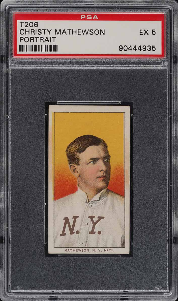 1909-11 T206 Christy Mathewson PORTRAIT, SOVEREIGN PSA 5 EX (PWCC) - Image 1