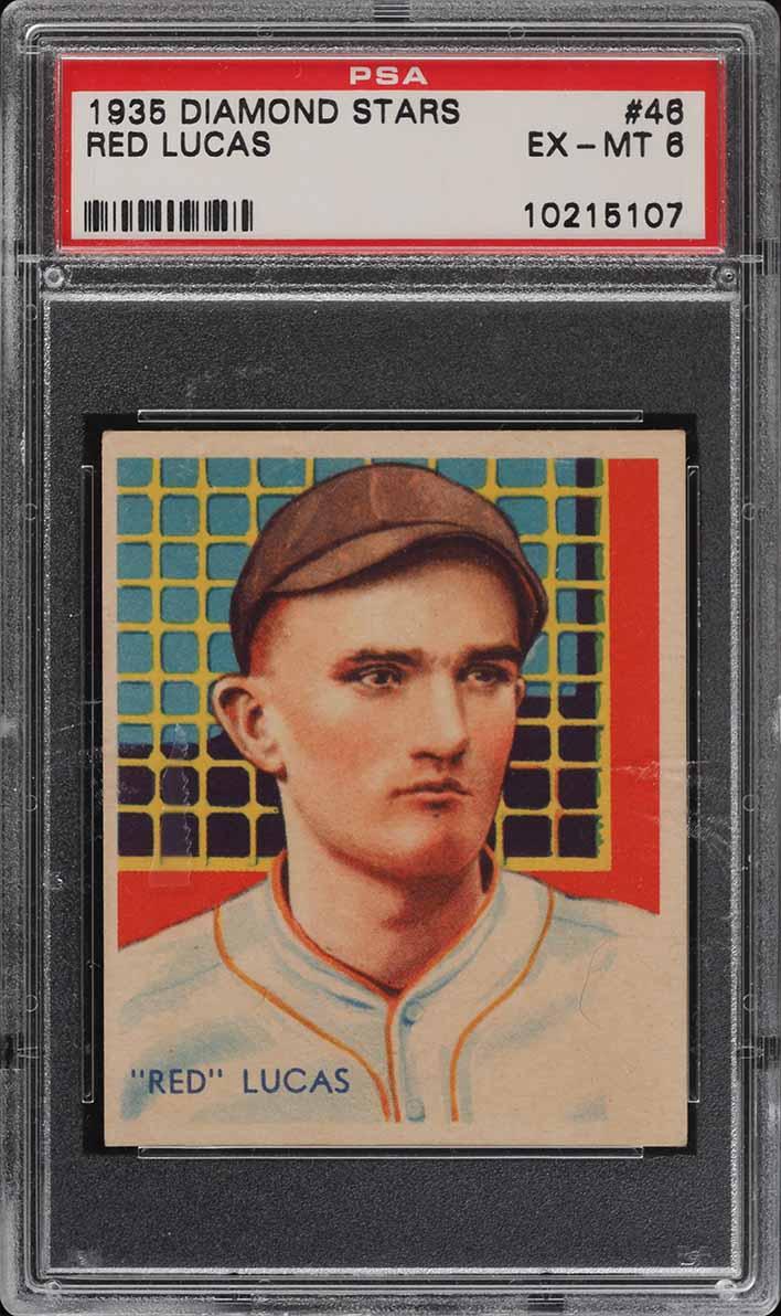 1935 Diamond Stars Red Lucas #46 PSA 6 EXMT - Image 1