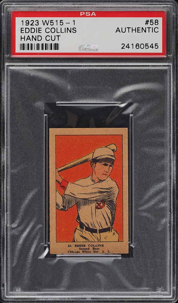 1923 W515-1 Strip Card Eddie Collins #58 PSA Auth - Image 1