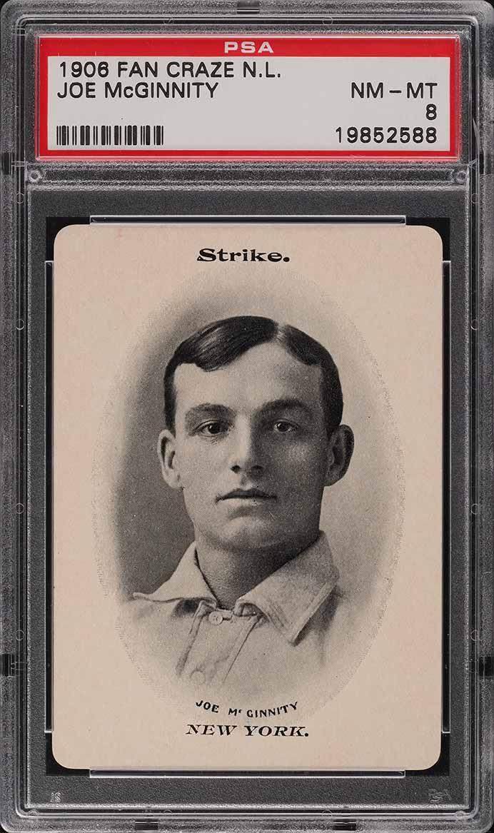 1906 Fan Craze N.L. Joe McGinnity PSA 8 NM-MT - Image 1