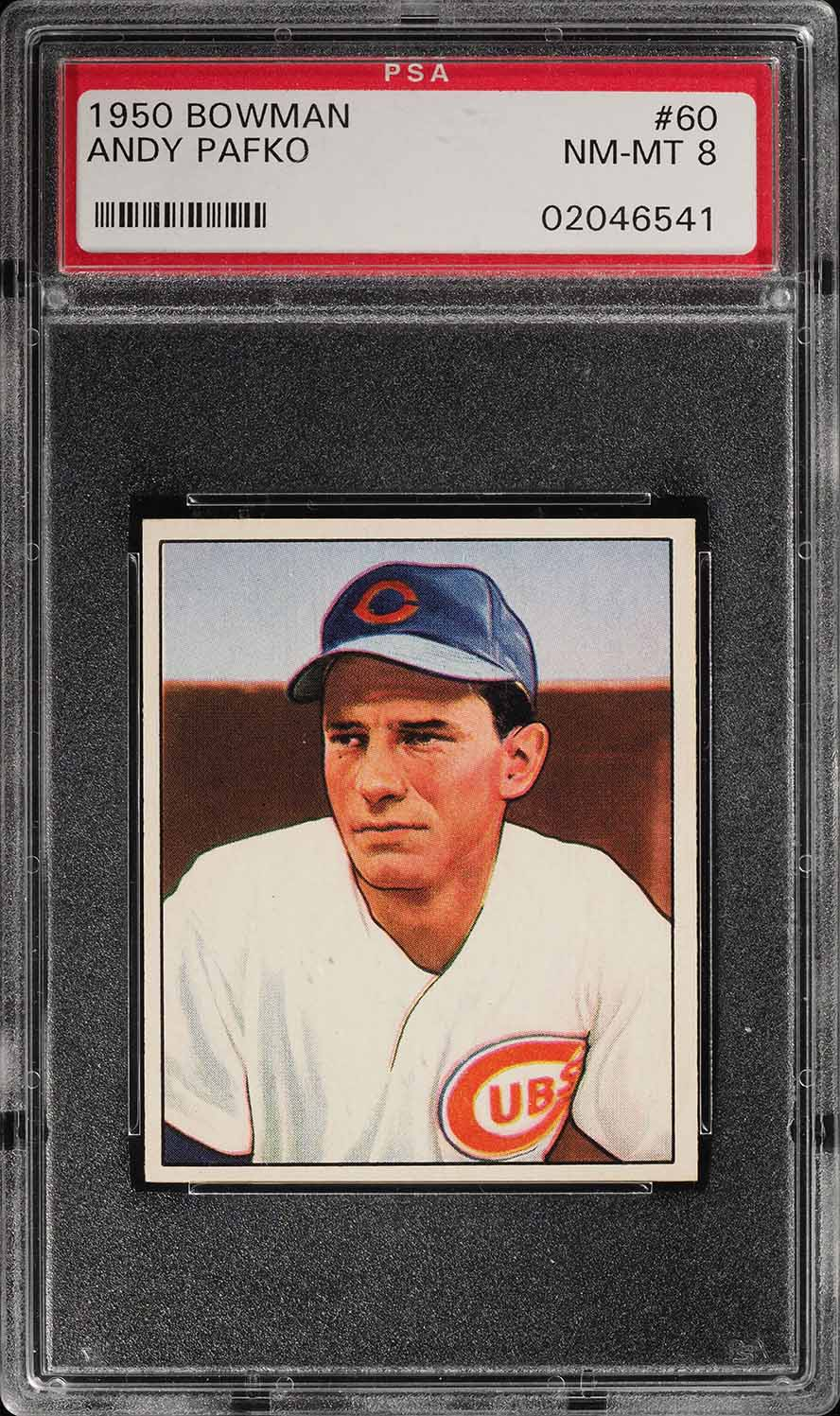 1950 Bowman Andy Pafko #60 PSA 8 NM-MT (PWCC) - Image 1